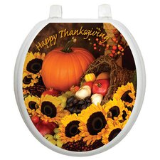 Holiday Bountiful Harvest Toilet Seat Decal
