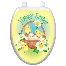 Holiday Easter Chicks Toilet Seat Decal