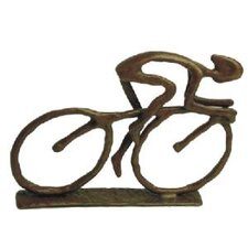 Cyclist in Cast Bronze