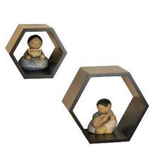 Nesting Hexagonal Shelf (Set of 2)