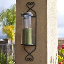 Classic Iron and Glass Cylinder Wall Sconce