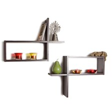 "Reversed ""d"" Shaped Shelves (Set of 2)"