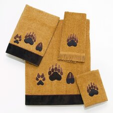 Paw Prints 4 Piece Towel Set