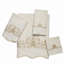 Premier Venetian Scroll Scallop 4 Piece Towel Set