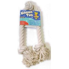 Three Knot Rope Bone Dog Toy in White