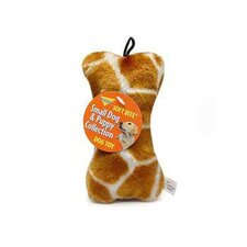 Giraffe Print Skins Bone Dog Toy
