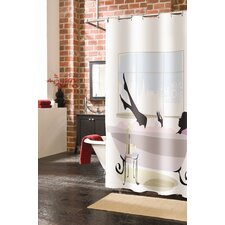 Spa Girl Polyester Shower Curtain