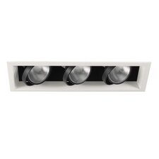 Three Light Recessed Trim in White