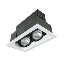 Two Light Multiple Recessed Trim in White