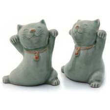 'Good Luck Cats' Statuettes (2 Piece)
