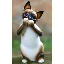 'Speak No Evil Siamese Cat' Statuette