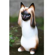 'Hear No Evil Siamese Cat' Sculpture