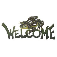 The Alejandro de Esesarte  Frog Prince Steel Welcome Sign