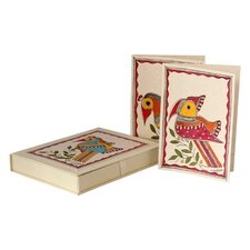 The Vidushini Artisan Birds Of Bihar Madhubani Greeting Card (Set of 8)