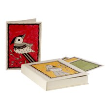 The Vidushini Artisan Birds Of Mithila Madhubani Greeting Card (Set of 8)