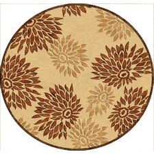 Veranda Flowered Sand/Brown Rug