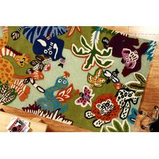 Kinder Zoo Animals Kids Rug
