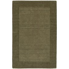 Bella Solid Border Green Rug