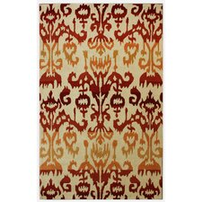 Pop Lanterns Rust Rug