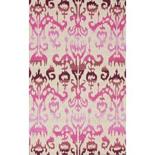 Pop Lanterns Ikat Dragon Fruit Rug