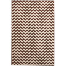 Allure Chevron Brown Rug