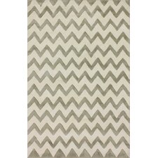 Fancy Silver Chevron Rug