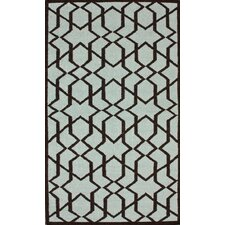 Gelim Light Blue Trellis Rug