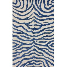 Earth Regal Blue Plush Safari Rug