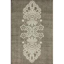 Overdye Natural Tribal Damask Rug