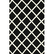 Fancy Charcoal Naoka Trellis Rug