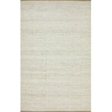 Brilliance White Solid Border Rug