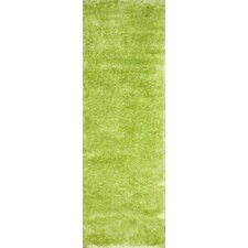 Shag Light Green Plush Rug