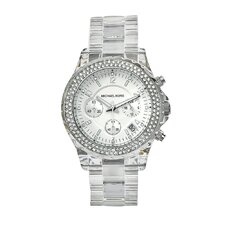 Women's Clear Plastic Watch