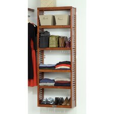"12"" Deep Stand Alone Shelf Tower Set in Red Mahogany"
