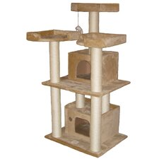 "51"" Cat Tree Condo in Beige"