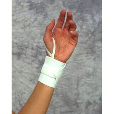 Wrist Wrap with Thumb Strap in White