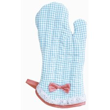 Yarn-Dye Blue and White Gingham Oven Mitt