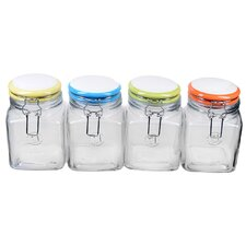 Rainbow Quadra Jar Assorted (Set of 4)
