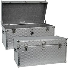 Embossed Steel Storage Trunk with Locker