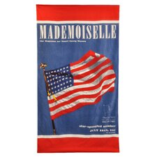 Conde Nast Madamoiselle Flag Beach Towel