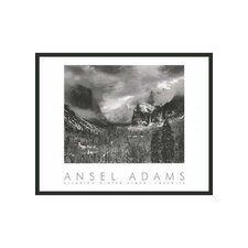 "Clearing Storm Framed Print by Ansel Adams - 24"" x 30"""