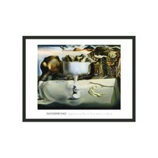 "Apparition of Face and Fruit Dish on Beach by Dali Framed Print - 24"" x 32"""
