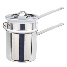 M'cook Cupretam 0.9-qt. Stainless Steel Double Boiler with Lid