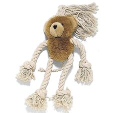 Moppets Bear Plush and Rope Dog Toy