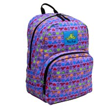 Day Trippin Backpack in Peace Love Frog Print