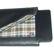 Collins Calf iSheath Mobile Wallet in Black with Green Plaid