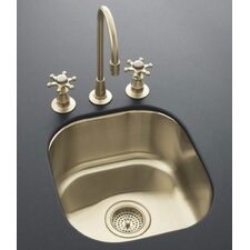 "Undertone 15.38"" x 13.75"" Undercounter Entertainment Kitchen Sink"