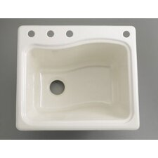 River Falls Self-Rimming Sink with Three-Hole Faucet Drilling