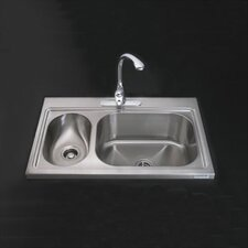 "Pro TaskSink™ 39"" x 25.75"" High / Low Countertop Kitchen Sink"