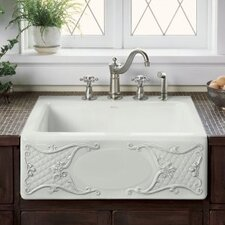 "Tidings Design On Alcott 25"" X 22"" X 8-5/8"" Tile-In Kitchen Sink with 4 Faucet Holes"